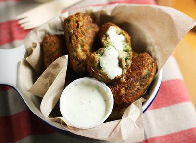 SARDINE CROQUETTES WITH YOGHURT DIPPING SAUCE
