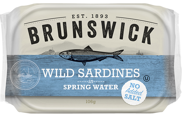 WILD SARDINES IN SPRING WATER (NO ADDED SALT)