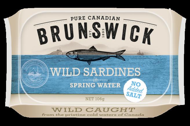 Wild Sardines in Spring Water No Added Salt